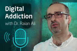 Profile picture of the expert Dr. Rain Ali and next to him the words Digital Addiction.