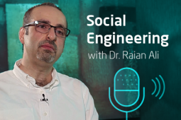 Profile picture of the expert Dr. Rain Ali and next to him the words Social Engineering.
